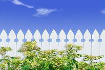 Weißer Lattenzaun