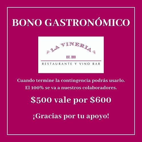 Bono Gastronómico $500