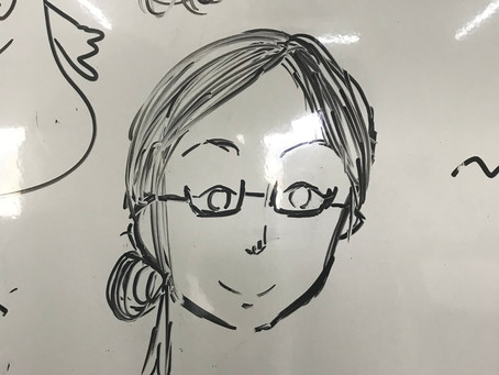 似顔絵を描いてくれました