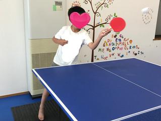 新メンバーで卓球を楽しむ