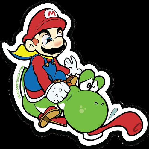 Mario Punching Yoshi