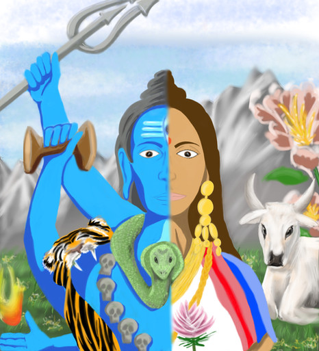 Shiva and parvati as one