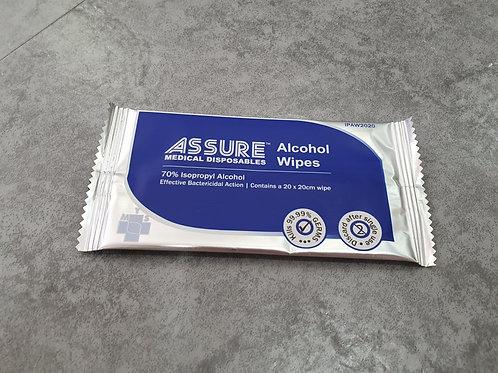 Assure Alcohol Wipe (70%) - 100s per packet