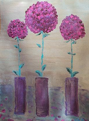 Boules d'Amour Violette, ambiance métallique