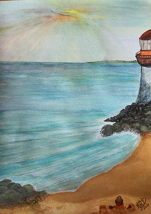 Plage près du phare