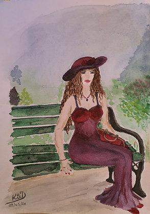 La dame sur le banc