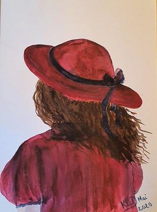 Jeune fille au Chapeau, de dos