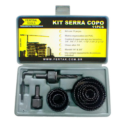 Kit Serra Copo 11 Pçs - Fertak Tools