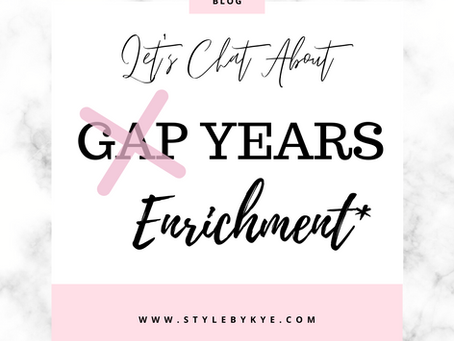 Gap Years? | Becoming Dr. Laurence Entry 2