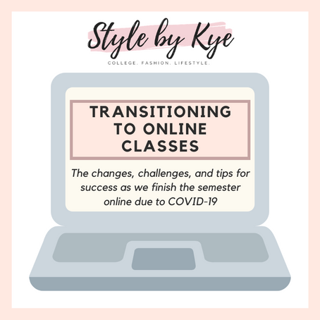 Things are Changing - Transitioning to Online Classes