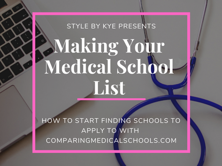 Making Your Medical School List