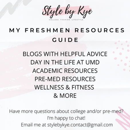 Freshmen Resources Guide