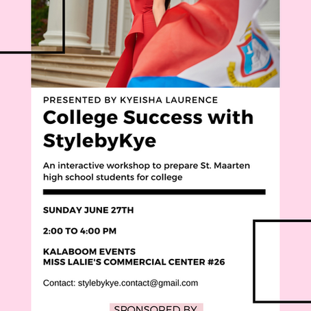 Tomorrow: College Success with StylebyKye