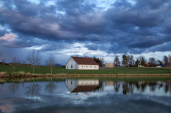 Barn & Stormy Clouds