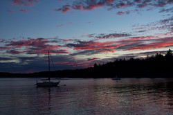 Halfmoon Bay sundown