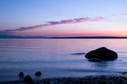 Shore at dusk