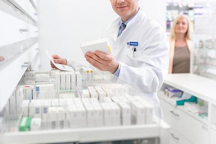 Phrmacist checking prescription