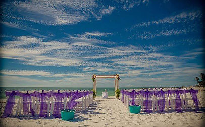 a perfect day for a beach wedding