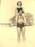Albert Sr and Chelly Sanchez on Siesta Beach