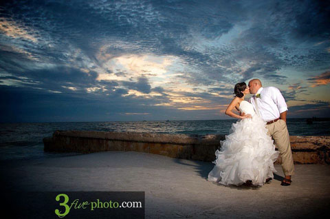 Amazing Sunset Wedding on the Beach