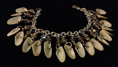 handmade jewelry, coquina shell jewelry, swarovski crystal jewelry, bracelets, beach jewelry, bridesmaid gifts, wedding jewelry, siesta key jewelry