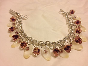 shell jewelry, bridesmaid gift, shells, bracelet, siesta key jewelry