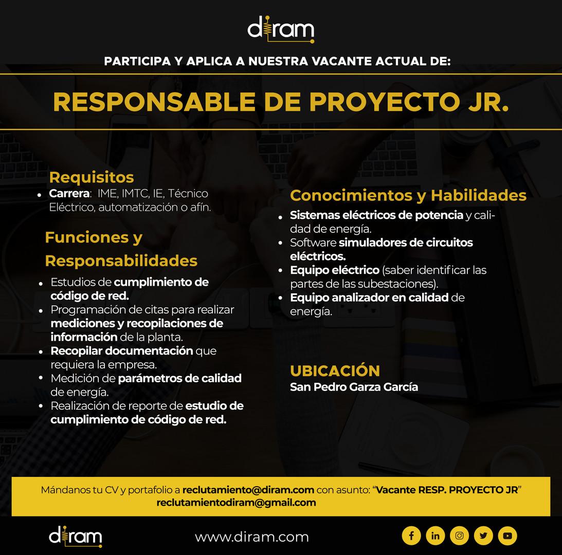 Responsable Proyectos JR