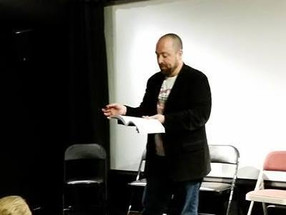 Lost Pilgrim Author Andrew Osborne at the Somerville Theater Bizarro Night Reading