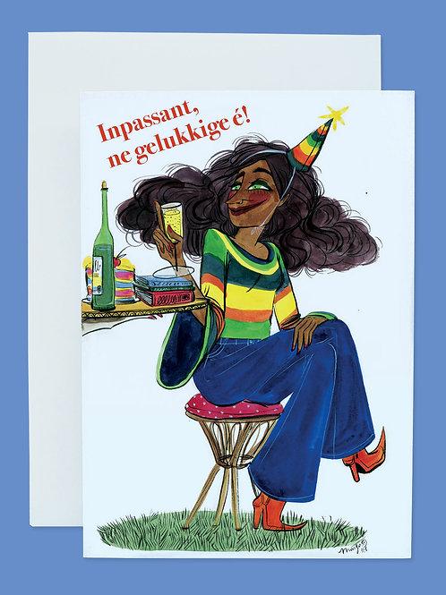 Inpassant, ne gelukkige é! - Postcard