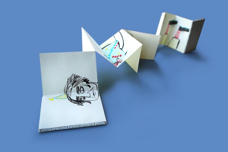 Leporello booklets