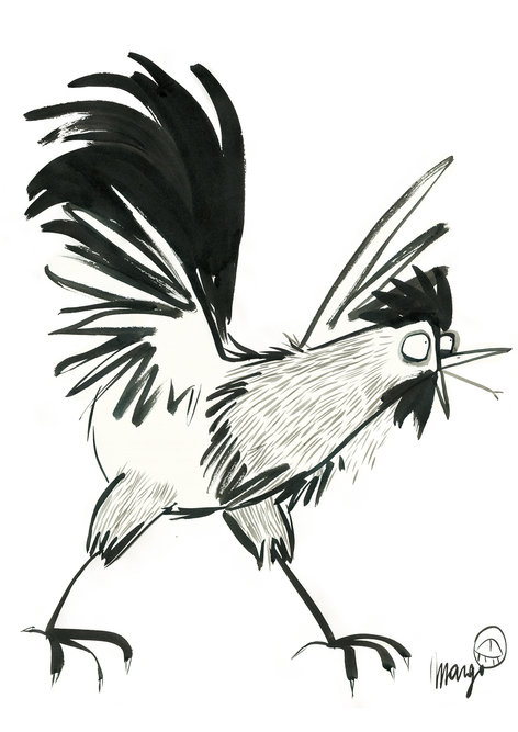 Shouting rooster