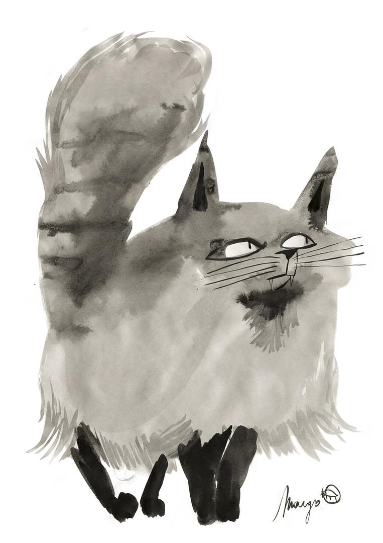 Poef Cat
