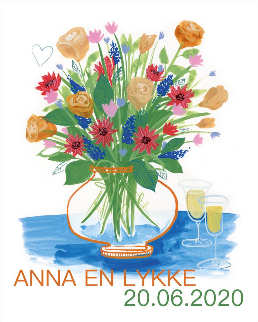 Trouwuitnodiging Anna & Lykke