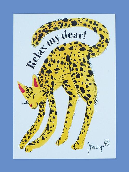 Relax My Dear - Postcard