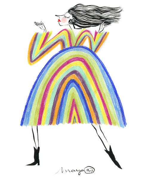 Rainbow dancing