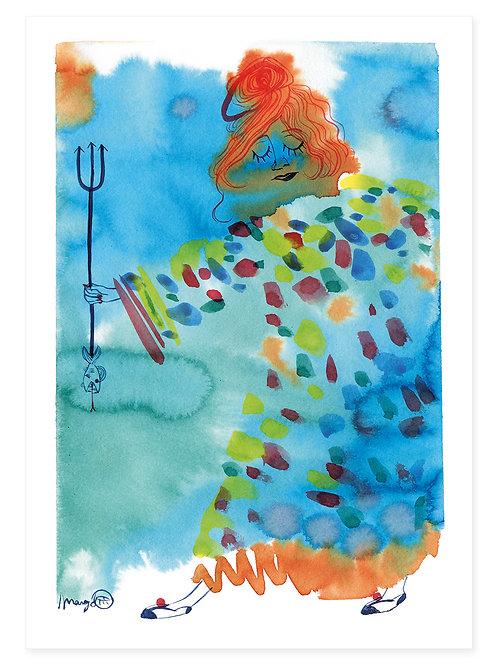 Water Woman - Print A4
