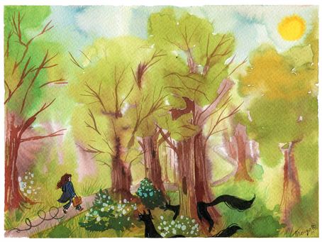 Process video: Walking in a forest