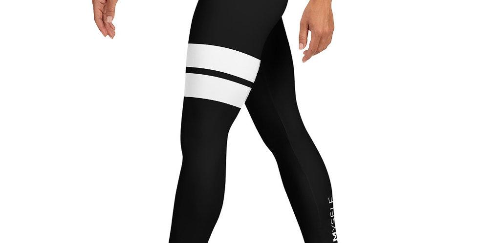 Black yoga legging BY.MYSELF stripe