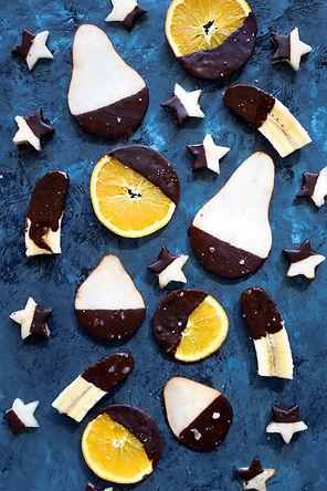 Chocolate-coated Fruit Dessert
