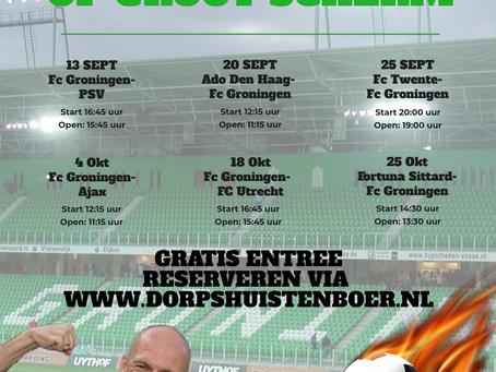 NIEUW!! FC Groningen op groot scherm!