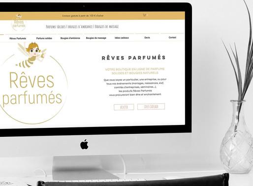 Création site Rêves Parfumés