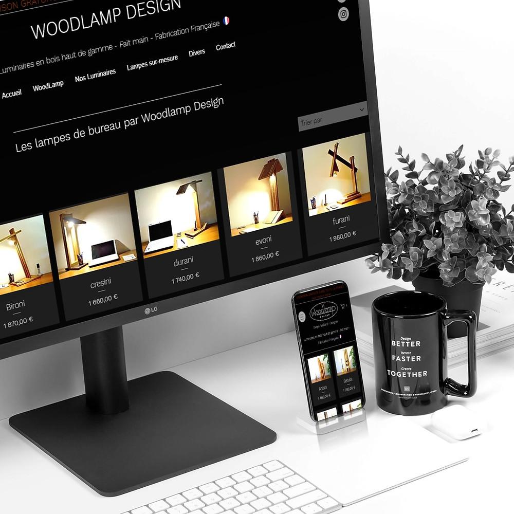 Refonte du site internet Woodlamp Design