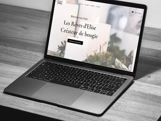 """Création du site """"Les Rêves d'Elise"""", créateur de Bougie"""