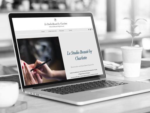 """Finalisation du site internet """" Le Studio Beauté by Charlotte """"."""