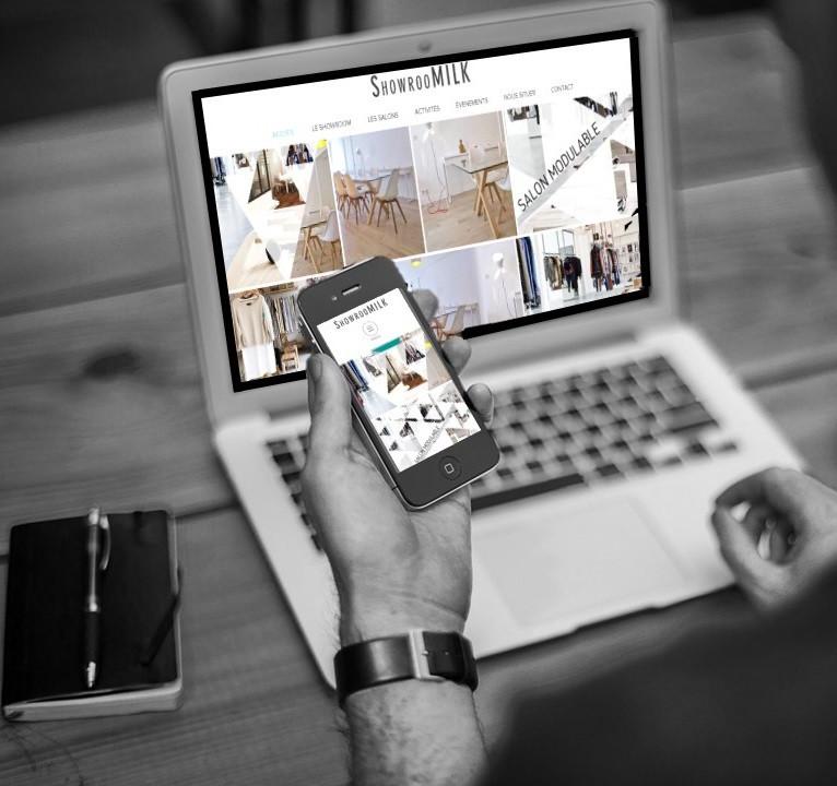 création site internet et référencement showroomilk Marseille