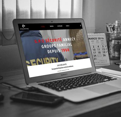 Refonte du site internet de G.P.S Sécurité Annecy par l' Agence Web Lacky