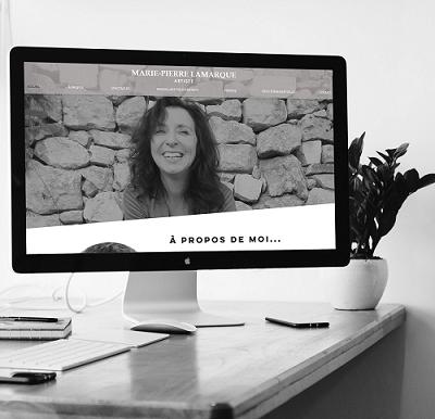 Refonte du site de l' Artiste Marie-Pierre Lamarque par Lacky Agence Web