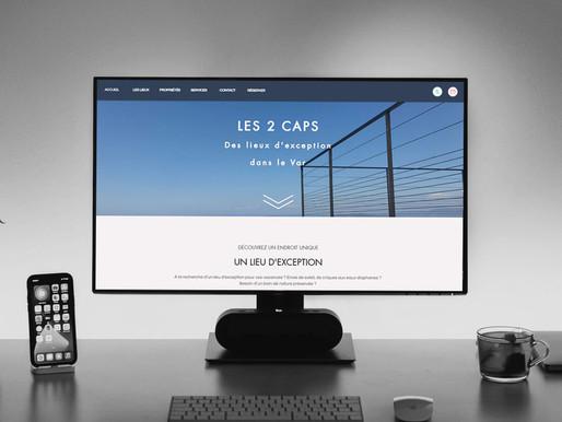 """Création d'un site internet vitrine pour """" Les 2 Caps """""""