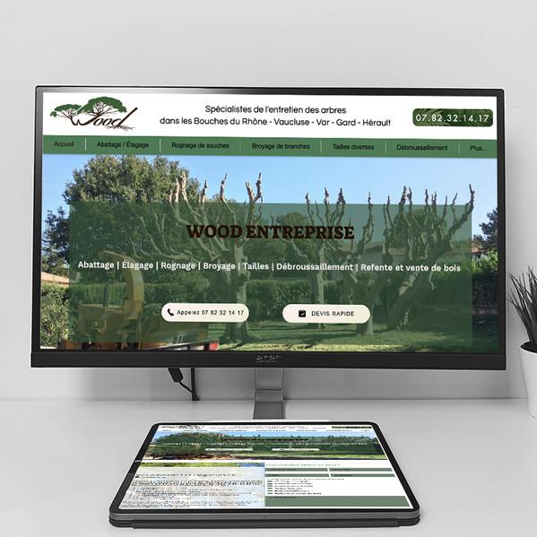 Wood Élagage - Création de site web