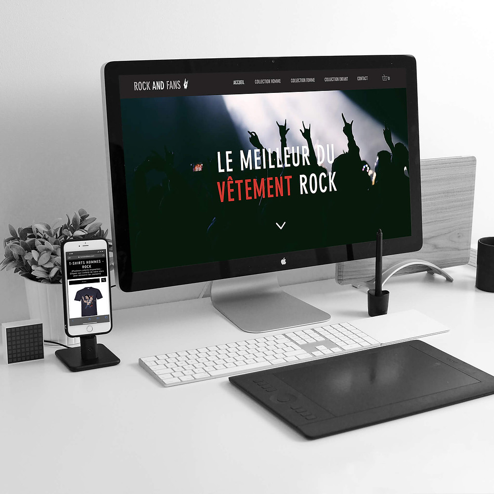 Refonte du site ROCK AND FAN | Lacky Agence Web